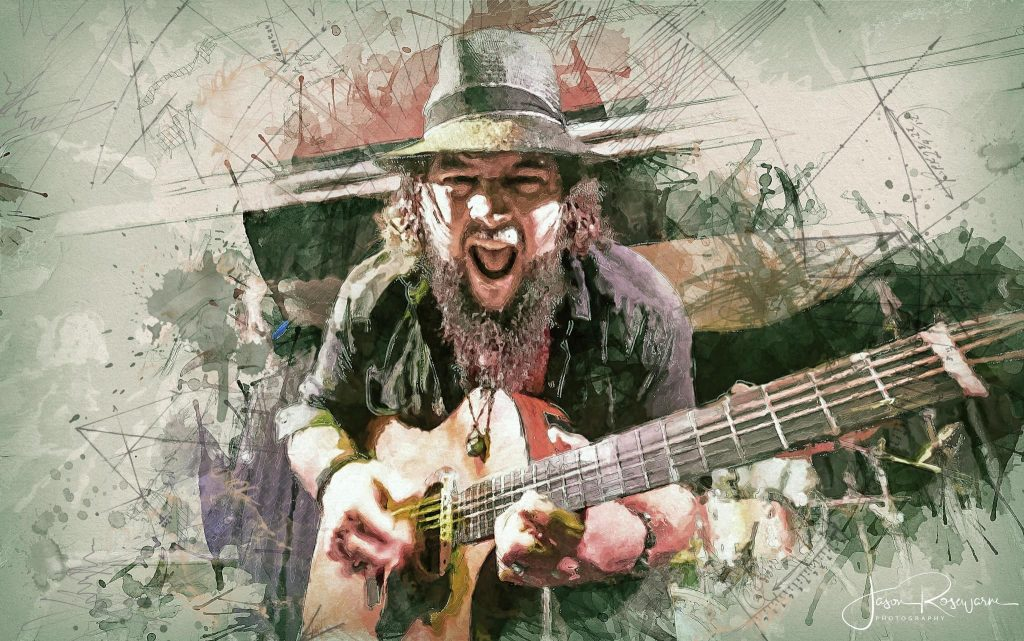 Mike Elrington brings solid rammed out blues with roared vocals on 'She's On My Mind Again'