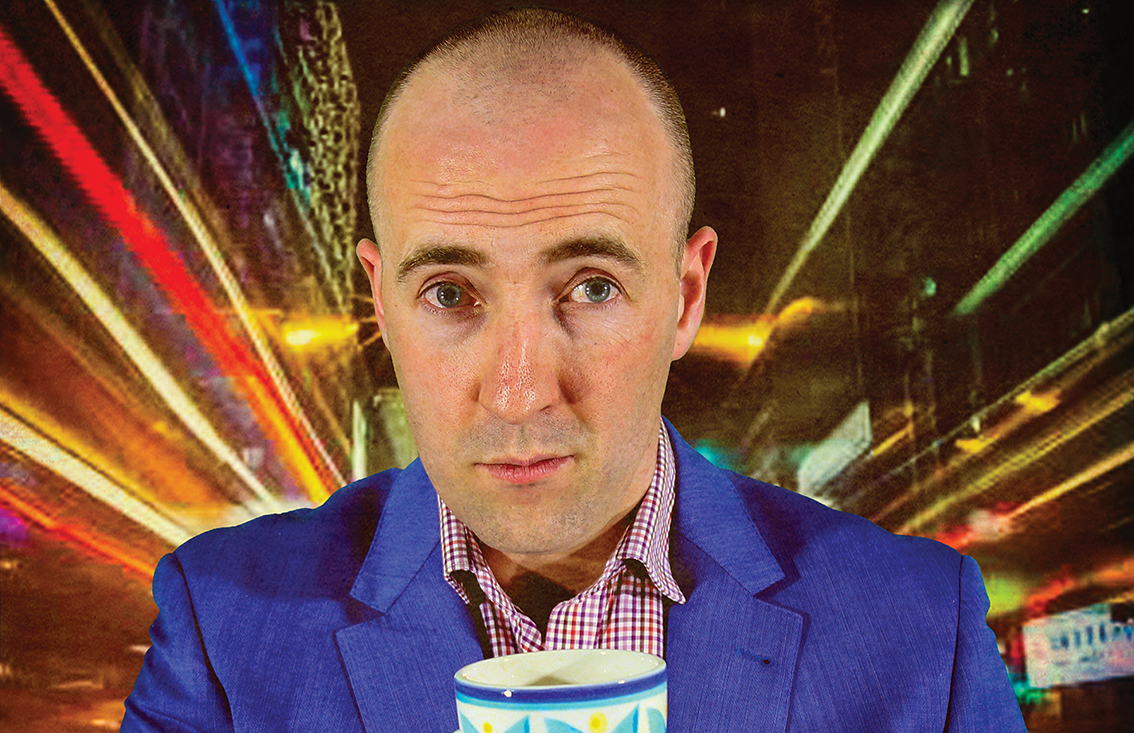 Canberra comic CHRIS MARLTON has four-year fever!